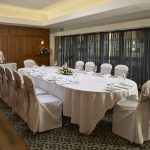 Photo of a wedding in the oak room